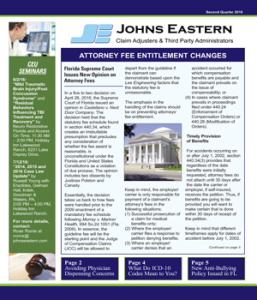 johns eastern newsletter